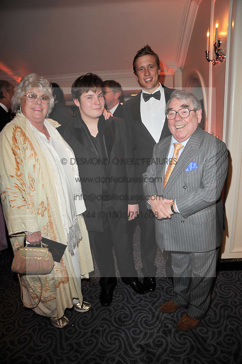 Left to right, ANNE CORBETT, TOM CORBETT, GEORGE FROST and RONNIE CORBETT at Quintessentially's 10th birthday party held at The Savoy Hotel, London on 13th December 2010.