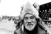 As Guildhall sq was being prepped for Bill Clintons visit that afternoon with John Hume ,i met Jimmy while passing through .Its always interesting to stop and chat with him ,especially when he wanted to know if i understood why he was wearing a Wolf hat ? Its lambin season bigman and that Wolf is allowed to walk in here to a civic reception .This hat shows him that i can see through him .I know what hes really about .