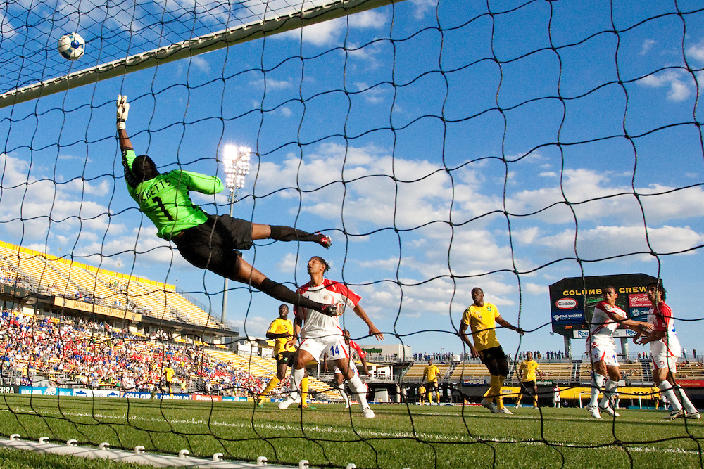 07 July 2009: 1 D. Ricketts of Jamaica during the CONCACAF Gold Cup game between Jamaica and  Costa Rica at Crew Stadium in Columbus, Ohio. Costa Rica defeated Jamaica 1-0.