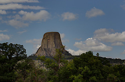 Devil's Tower in Wyoming<br /> <br /> High Dynamic Range (HDR) illustration image post processing