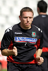 Nicosia, Cyprus - Friday, October 12, 2007: Wales' captain Craig Bellamy training at the new GPS Stadium ahead of their UEFA Euro 2008 Qualifying match against Cyprus in Nicosia. (Photo by David Rawcliffe/Propaganda)
