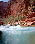 Havasu Creek, Colorado River mile 157, Grand Canyon National Park, Havasupai Indian Reservation, Arizona, USA; 8 May 2008; Pentax 67II, 45mm lens, polarizer, Velvia 100