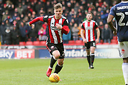 Lee Evans of Sheffield United (20) during the EFL Sky Bet Championship match between Sheffield United and Nottingham Forest at Bramall Lane, Sheffield, England on 17 March 2018. Picture by Mick Haynes.