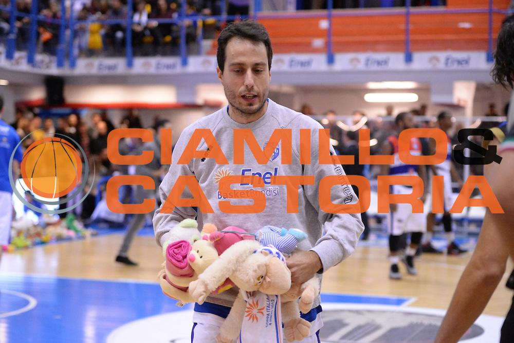 DESCRIZIONE : Brindisi  Lega A 2014-15 Enel Brindisi Upea Capo d'Orlando<br /> GIOCATORE : Bulleri Massimo<br /> CATEGORIA : Teddy Bear Toss Ritratto<br /> SQUADRA : Enel Brindisi<br /> EVENTO : Campionato Lega A 2014-2015<br /> GARA :Enel Brindisi Upea Capo d'Orlando<br /> DATA : 21/12/2014<br /> SPORT : Pallacanestro<br /> AUTORE : Agenzia Ciamillo-Castoria/M.Longo<br /> Galleria : Lega Basket A 2014-2015<br /> Fotonotizia : <br /> Predefinita :