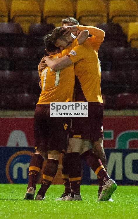 Motherwell celebrations • Motherwell v St Johnstone • SPFL Premiership • 30 December 2015 • © Russel Hutcheson | SportPix.org.uk