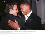 Stephen Dorff & Cuba Gooding Jr. at the Vanity Fair Oscar  night party, Mortons, Los Angeles. 23 March 1988. Film 98174f37<br /> Copyright Photograph by Dafydd Jones<br /> 66 Stockwell Park Rd. London SW9 0DA<br /> Tel. 0171 733 0108
