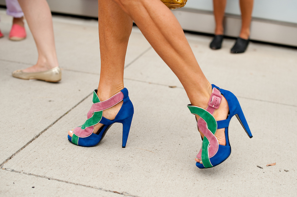 Anna Dello Russo's Shoes, Outside Prabal Gurung