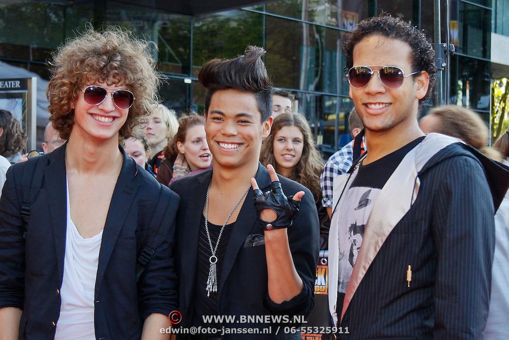 NLD/Utrecht/20100903 - Premiere Queen musical We Will Rock You, Rob Polmann, Jorge Sprangers, Regillio Cyrus