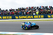 PHILLIP ISLAND, VIC - OCTOBER 27: Team Suzuki Ecstar rider Andrea Iannone (29) in morning practice during The 2018 Australian MotoGP at The Phillip Island Circuit in Victoria, Australia on October 27, 2018. (Photo by Speed Media/Icon Sportswire)