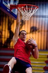 Stefan Ilic at practice of KK Slovan basketball team, on February 3, 2010 in Arena Kodeljevo, Ljubljana, Slovenia.  (Photo by Vid Ponikvar / Sportida)