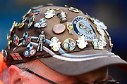 FA Cup badge on a Wycombe stewards cap during the The FA Cup 3rd round match between Wycombe Wanderers and Preston North End at Adams Park, High Wycombe, England on 6 January 2018. Photo by Dennis Goodwin.