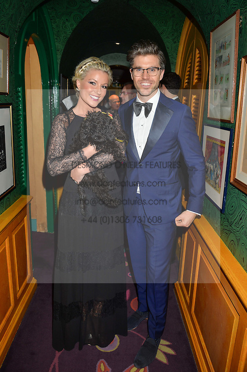 Singer NATALIE RUSHDIE and DARREN KENNEDY at a dinner to celebrate the 125th anniversary of the Dog's Trust held at Annabel's, Berkeley Square, London on 1st November 2016.