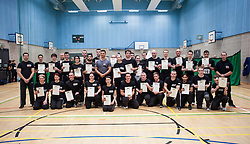 Franklyn Hartkamp took the Institute Of Krav Maga Scotland grading today at Stirling. Pic of the finished P1 grading.<br /> &copy;Michael Schofield.