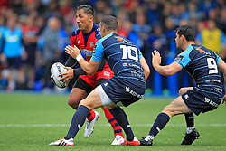 Gavin Henson of Bristol Rugby (L) in action with Steve Shingler (C) and Tomos Williams of Cardiff Blues - Mandatory by-line: Ian Smith/JMP - 20/08/2016 - RUGBY - BT Sport Cardiff Arms Park - Cardiff, Wales - Cardiff Blues v Bristol Rugby - Pre-season friendly
