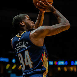 Jan 26, 2018; New Orleans, LA, USA; New Orleans Pelicans guard DeAndre Liggins (34) shoots against the Houston Rockets during the second half at the Smoothie King Center. Pelicans defeated the Rockets 115-113. Mandatory Credit: Derick E. Hingle-USA TODAY Sports