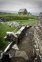 Broch of Gurness, a fortified dwelling dating back to the Iron Age around 2000 BC, Orkney Islands Scotland