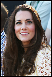 The Duchess of Cambridge watches a bird display at Taronga Zoo in Sydney, Australia, Sunday, 20th April 2014. Picture by Stephen Lock / i-Images