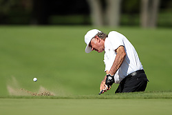 September 16, 2018 - Grand Blanc, Michigan, United States - Tommy Armour III of the USA hits out of the bunker toward the first green during the final round of The Ally Challenge presented by McLaren at Warwick Hills Golf & Country Club in Grand Blanc, MI, USA Sunday, September 16, 2018. (Credit Image: © Jorge Lemus/NurPhoto/ZUMA Press)