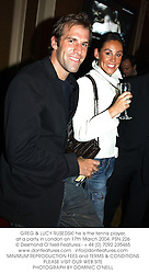 GREG & LUCY RUSEDSKI he is the tennis player, at a party in London on 17th March 2004.PSN 226