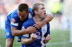 Peterborough United's Grant McCann celebrates - Photo mandatory by-line: Joe Dent/JMP - Tel: Mobile: 07966 386802 28/09/2013 - SPORT - FOOTBALL - New York Stadium - Rotherham - Rotherham United V Peterborough United - Sky Bet One