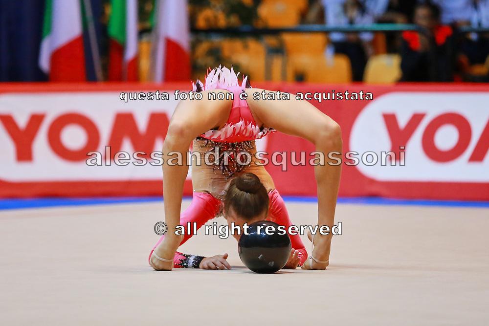 Ilaria Barsacchi atleta della società Etruria di Prato durante la seconda prova del Campionato Italiano di Ginnastica Ritmica.<br /> La gara si è svolta a Desio il 31 ottobre 2015.