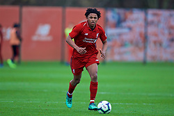 KIRKBY, ENGLAND - Saturday, January 26, 2019: Liverpool's Yasser Larouci during the FA Premier League match between Liverpool FC and Manchester United FC at The Academy. (Pic by David Rawcliffe/Propaganda)