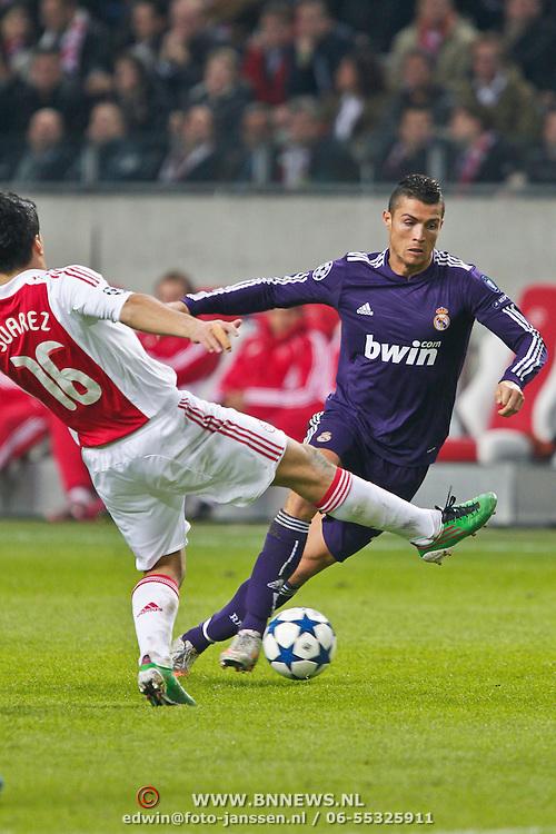 NLD/Amsterdam/20101123 - Ajax - Real Madrid, Cristiano Ronaldo (7) / Luis Suarez (16)