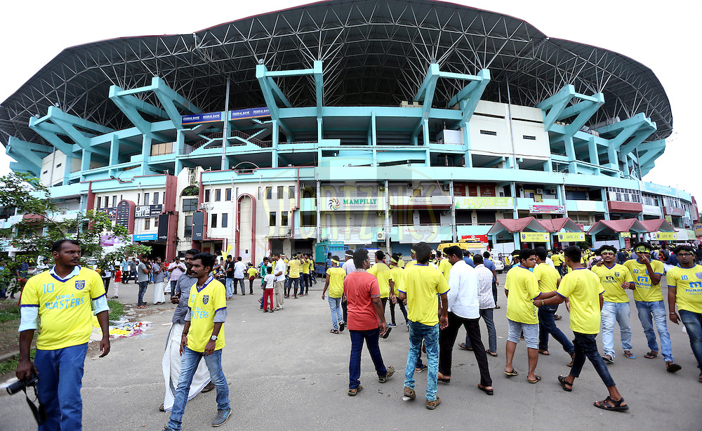 General view of outside the stadium during match 34 of the Indian Super League (ISL) season 2 between Kerala Blasters FC and Atl&Egrave;tico de Kolkata held at the Jawaharlal Nehru Stadium, Kochi, India on the 10th November 2015.<br /> <br /> Photo by Sandeep Shetty / ISL/ SPORTZPICS