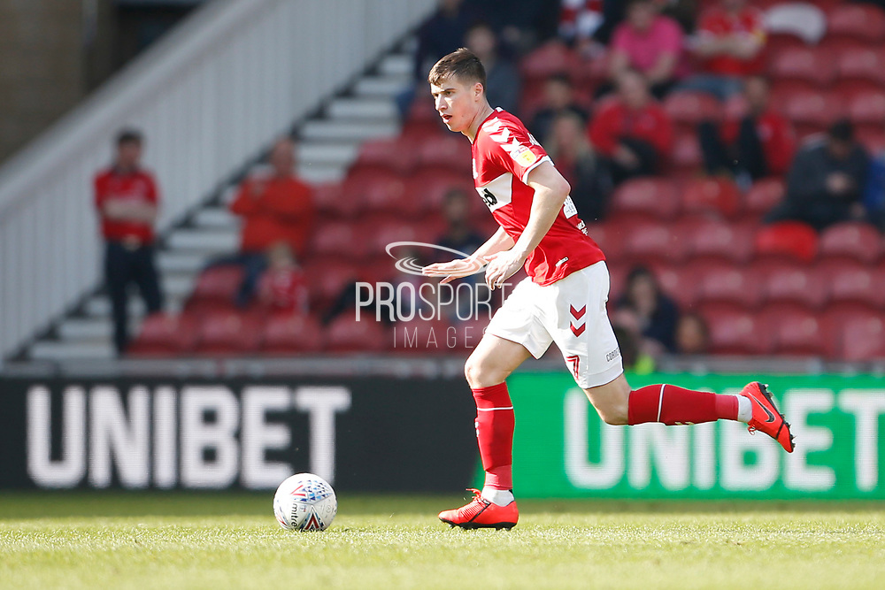 Middlesbrough midfielder Paddy McNair (17)  during the EFL Sky Bet Championship match between Middlesbrough and Stoke City at the Riverside Stadium, Middlesbrough, England on 19 April 2019.