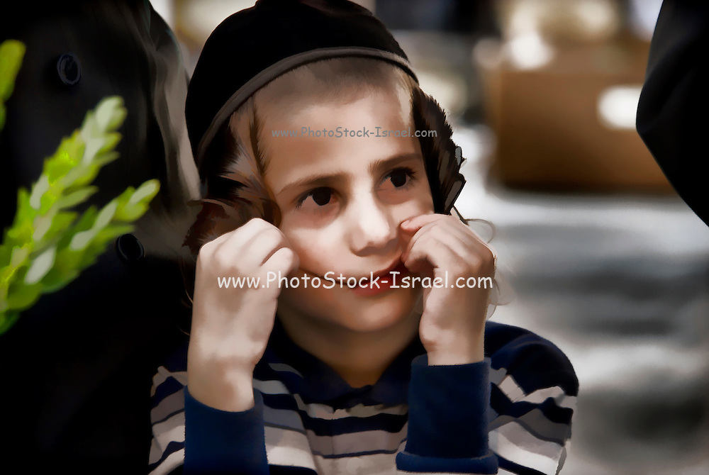 Young ultra Orthodox Jewish boy in Bnei Brak