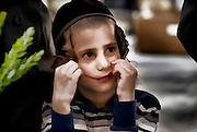 Young ultra Orthodox Jewish boy in Bnei Brak