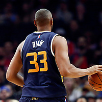 25 March 2016: Utah Jazz center Boris Diaw (33) brings the ball up court during the Los Angeles Clippers 108-95 victory over the Utah Jazz, at the Staples Center, Los Angeles, California, USA.