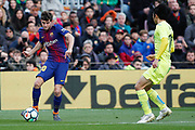 Sergi Roberto of FC Barcelona during the Spanish championship Liga football match between FC Barcelona and Getafe on February 11, 2018 at Camp Nou stadium in Barcelona, Spain - Photo Andres Garcia / Spain ProSportsImages / DPPI / ProSportsImages / DPPI