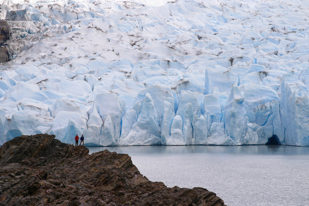 The Gray Glacier in Torres del Paine National Park, Chile, Jan. 9, 2004. Daniel Beltra/Greenpeace.