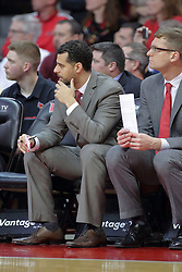 22 February 2017:  Dean Oliver and Luke Yaklich during a College MVC (Missouri Valley conference) mens basketball game between the Southern Illinois Salukis and Illinois State Redbirds in  Redbird Arena, Normal IL