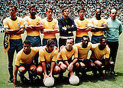 BRAZIL TEAM.TEAM GROUP.BRAZIL V W GERMANY WORLD CUP FINAL 1970.SOCCER WORLD CUP.1970
