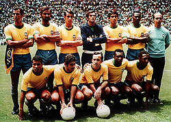 BRAZIL TEAM.TEAM GROUP.BRAZIL V W GERMANY WORLD CUP FINAL 1970.SOCCER WORLD CUP.1970