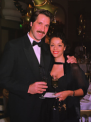 English football goalkeeper DAVID SEAMAN and MISS DEBBIE RODGERS, at a ball in London on 17th December 1997.MEG 24
