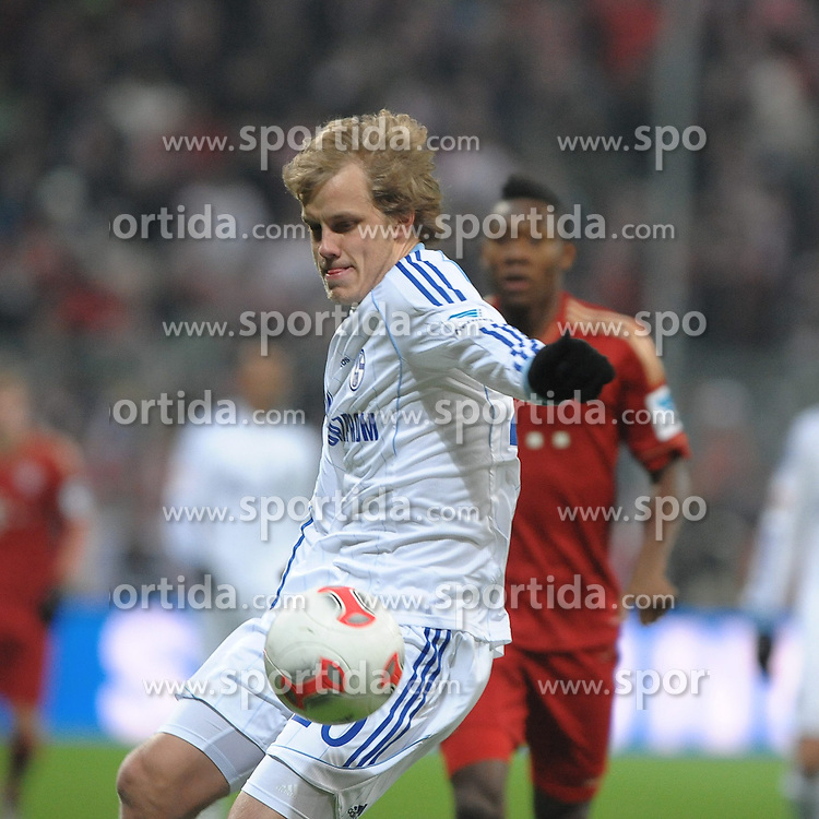 09.02.2013, Allianz Arena, Muenchen, GER, 1. FBL, FC Bayern Muenchen vs Schalke 04, 21. Runde, im Bild Teemu PUKKI (Schalke 04) // during the German Bundesliga 21th round match between FC Bayern Munich and Schalke 04 at the Allianz Arena, Munich, Germany on 2013/02/09,, , , , . EXPA Pictures © 2013, PhotoCredit: EXPA/ Eibner/ Wolfgang Stuetzle..***** ATTENTION - OUT OF GER *****