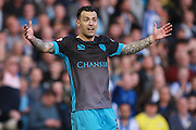 Sheffield Wednesday midfielder Ross Wallace during the Sky Bet Championship play-off second leg match between Brighton and Hove Albion and Sheffield Wednesday at the American Express Community Stadium, Brighton and Hove, England on 16 May 2016. Photo by Bennett Dean.