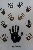 Handprints of Nelson Mandela, Saxon Hotel, Johannesburg, South Africa.