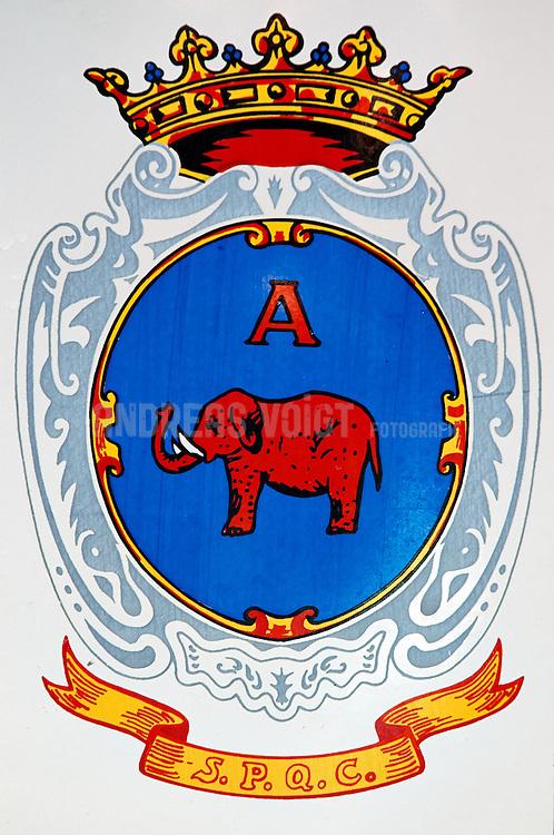 Das Wappen der italienischen Gemeinde Catania