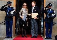 KING WILLEM ALEXANDER AND QUEEN MAXIMA ontvangen buitenlandse diplomaten
