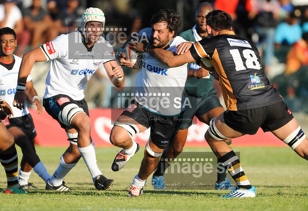 VELDDRIF, SOUTH AFRICA - Saturday 18 April 2015, Clinton Swart of GWK Griquas during the Vodacom Cup rugby match between Boland Cavaliers and GWK Griquas at Velddrif Rugby club.<br /> Photo by Roger Sedres/ImageSA/ SARU