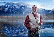 Composite portait of flyfisherman. MR