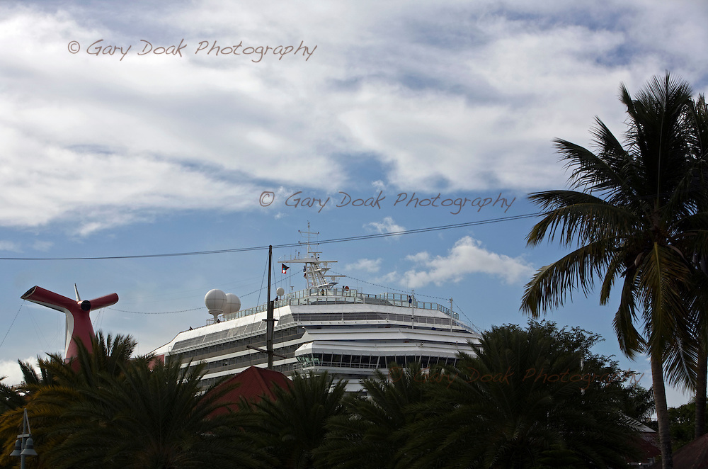 Cruise ships in port at St.Johns.Antigua.