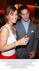 LORD FREDERICK WINDSOR and LADY ROSE INNES-KER daughter of the Duke of Roxburghe, at a party in London on 11th June 2003.PKI 185