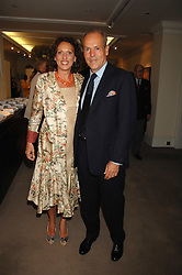 MASSIMO & SARA CARELLO at the Sotheby's Summer Party 2007 at their showrooms in New Bond Street, London on 4th June 2007.<br />