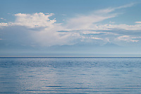 Olympic Mountains across Strait of Juan De Fuca, seen from San Juan Island Washington