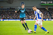 Conor Townsend (West Brom) & Anthony Knockhaert (Brighton) during the FA Cup fourth round match between Brighton and Hove Albion and West Bromwich Albion at the American Express Community Stadium, Brighton and Hove, England on 26 January 2019.